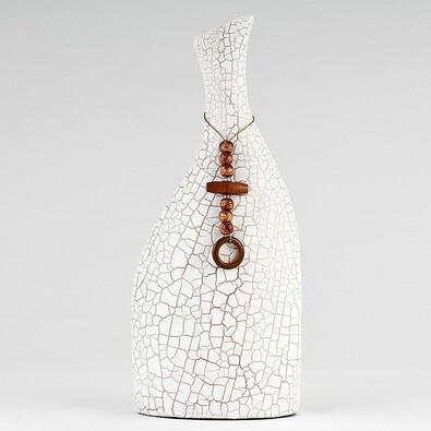 Váza keramická, biela, 29 cm