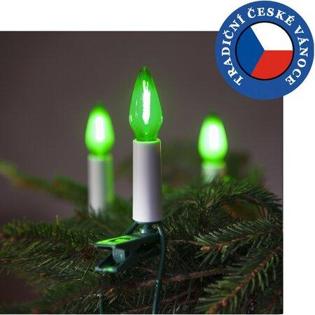 Souprava Felicia LED Filament zelená SV-16, 16 žárovek