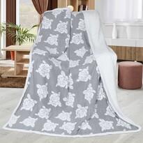 Baránková deka Ruže sivá, 150 x 200 cm