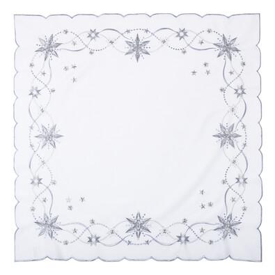 Vánoční ubrus Vánoční hvězda bílá, 85 x 85 cm
