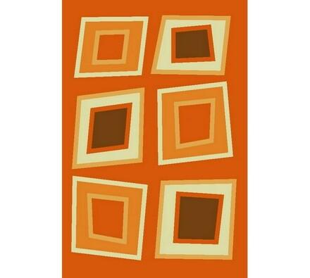 Kusový koberec Elana, oranžový, 60 x 110 cm