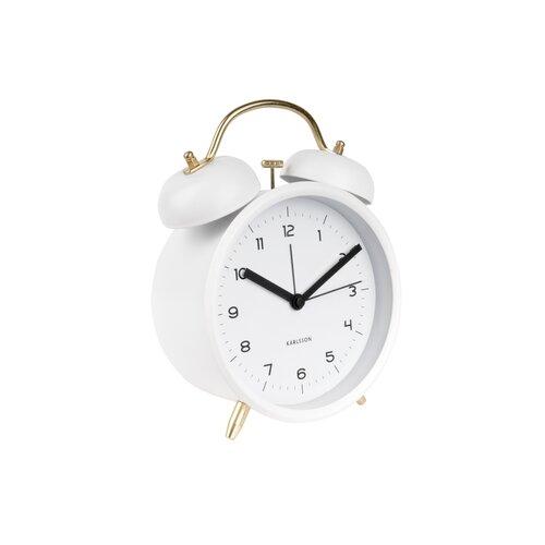 Ceas cu alarmă design Karlsson 5711WH, diam. 14 cm