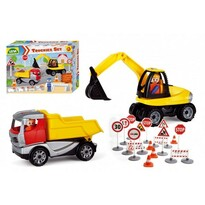 Lena Set stavebních strojů s figurkami Truickies, 2 ks