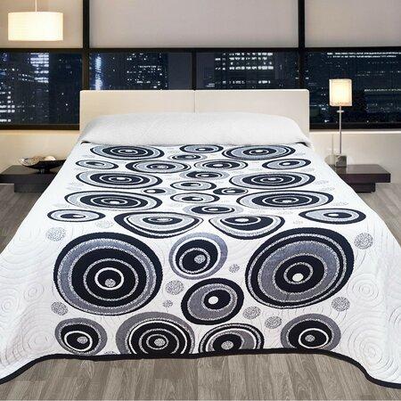 Cuvertură de pat Congo neagră, 240 x 260 cm