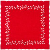Vánoční ubrus Cesmína červená, 85 x 85 cm