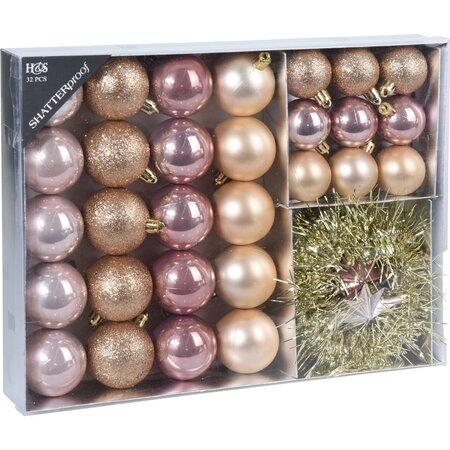 Koopman Karácsonyfadísz készlet  Montevago, 32 db