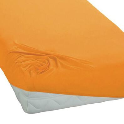BedTex jersey prestieradlo žltá, 180 x 200 cm