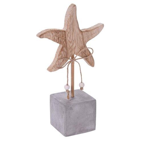 Dřevěná dekorace Sea star, 18 cm