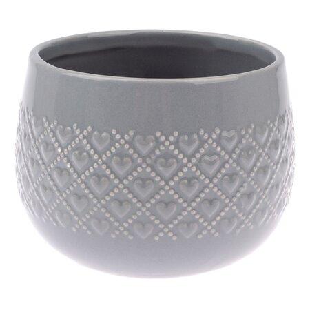 Keramický obal na květináč Fains šedá, pr. 13 cm
