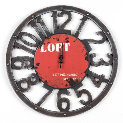 Nástěnné hodiny Loft červené