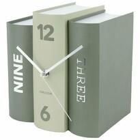 Karlsson 5756GR stylowy zegar stołowy, 20 x 15 x 20 cm