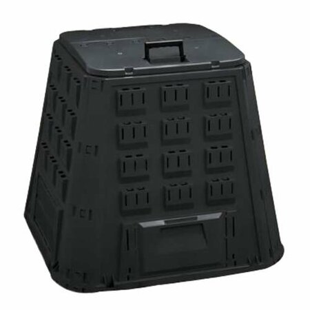 Kompostér 400 L, plastový, zelený, rozměry 885x885x800 mm