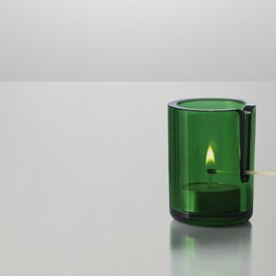 Svícen Match 8 cm, zelený