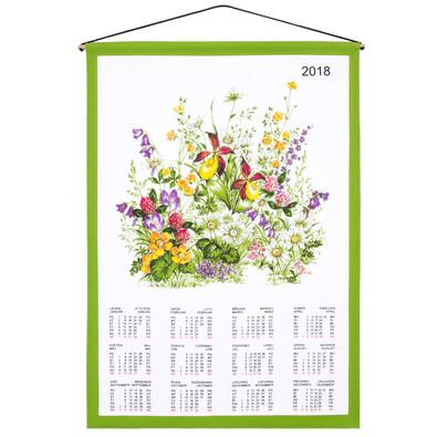 Calendar de pere 2018 Flori, material textil 45 x 65 cm
