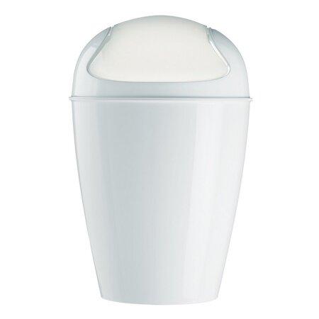 Koziol Stolní koš s poklopem Dell XXS bílá, 12,7 x 12,7 x 18,7 cm