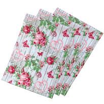 Rózsa konyharuha, 50 x 70 cm, 3 db-os készlet