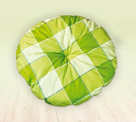Ratanová taburetka, zelená