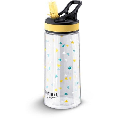 Lamart LT4035 Športová fľaša Straw 0,5 l, žltá