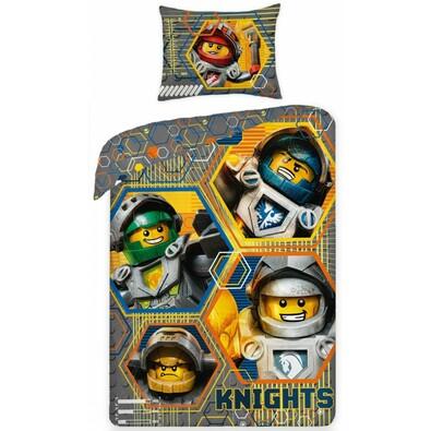 Dětské bavlněné povlečení Lego Nexo 378, 140 x 200 cm, 70 x 90 cm