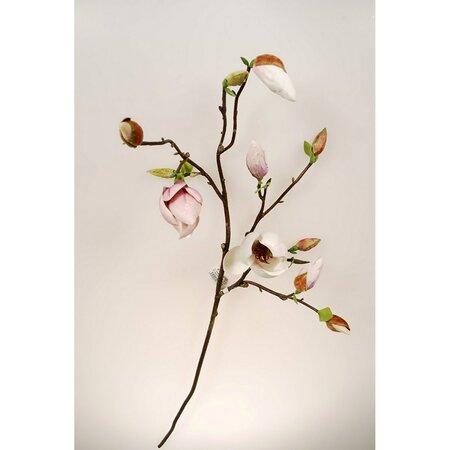 Sztuczna gałązka Magnolia jasnoróżowy, 95 cm