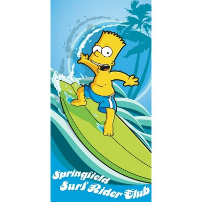 Osuška The Simpsons Bart surf, 75 x 150 cm