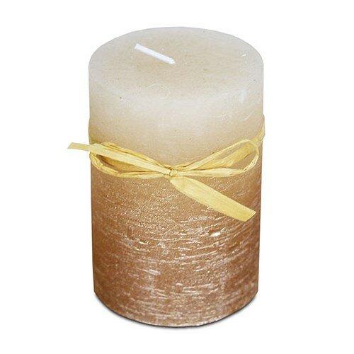 Svíčka z vosku měděno-ledový efekt, 6,8 x 9,5 cm