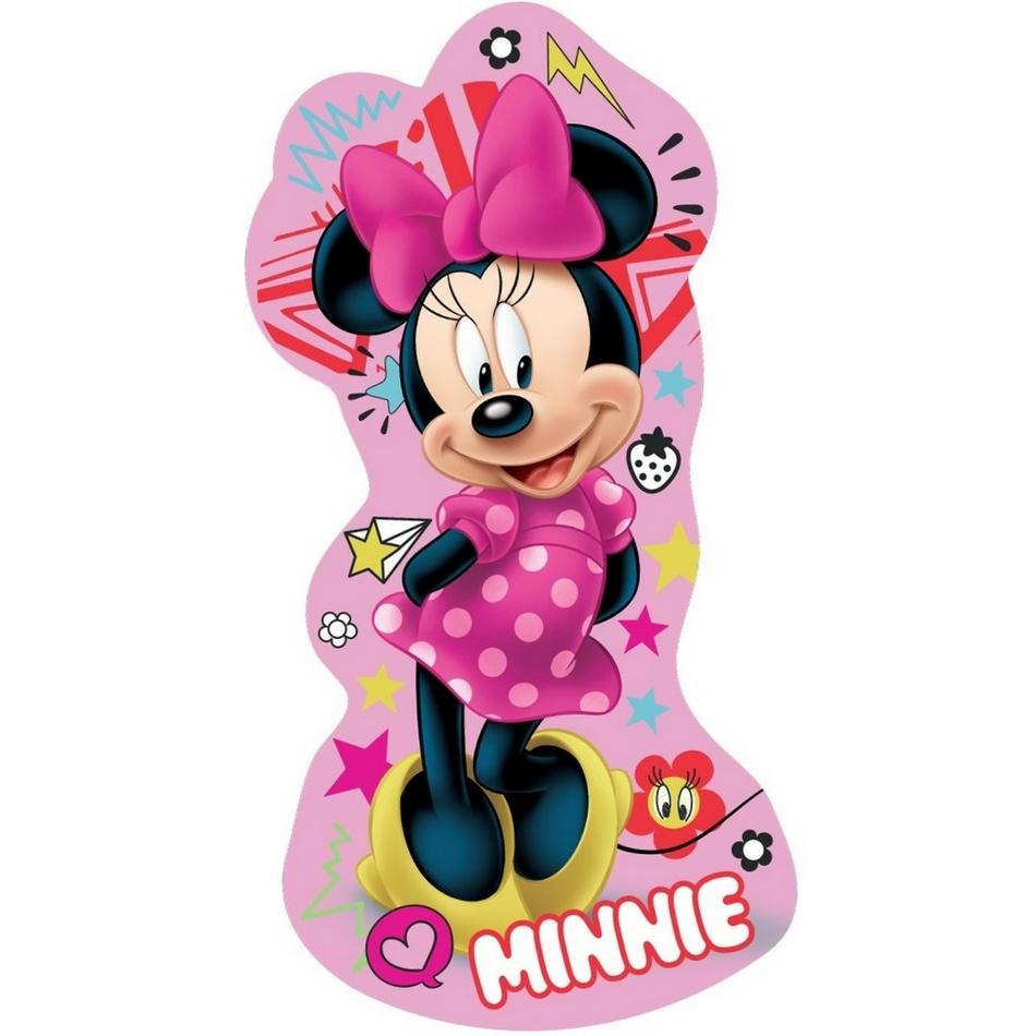 Jerry Fabrics Tvarovaný polštářek Minnie pink, 31 x 16 cm