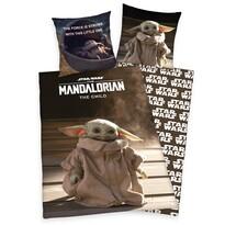 Star Wars Mandalorian The Child pamut ágynemű, 140 x 200 cm, 70 x 90 cm