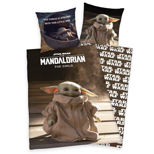 Lenjerie de pat din bumbac Star Wars Mandalorian The Child, 140 x 200 cm, 70 x 90 cm