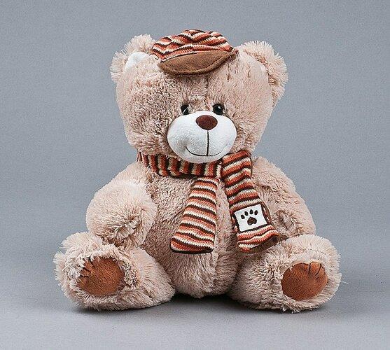 Medvídek s čepicí a šálou