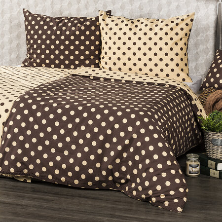 Lenjerie pat 1 pers. 4Home Buline Ciocolată  , 140 x 200 cm, 70 x 90 cm