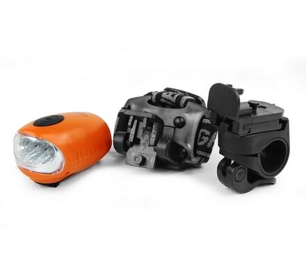 Svítilna, Dynamo LED 3 in 1, VCAN VCN003, oranžová