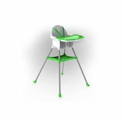 Doloni Krzesełko do karmienia dla dzieci, zielony, 67 x 69 x 97 cm