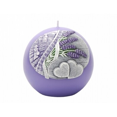 Dekorativní svíčka Lavender Kiss, koule
