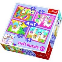 Trefl Puzzle Veselé lamy, 4 ks