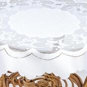 Ubrus Krajkový žakárový Anatol bílá, 160 cm