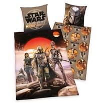 Detské bavlnené obliečky Star Wars Mandalorian, 135 x 200 cm, 80 x 80 cm