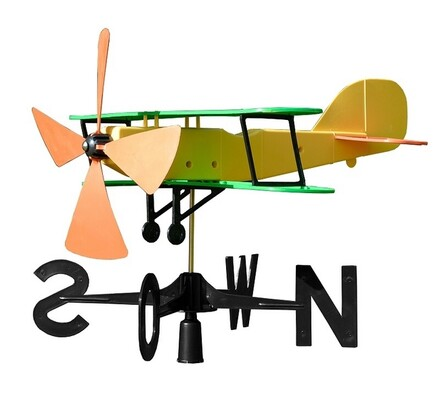 Plastia Větrná korouhvička letadlo