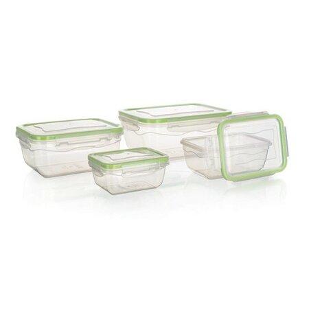 Banquet Sada plastových dóz na potraviny, 4 ks, zelená