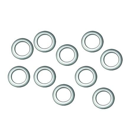 Függönykarikák  matt ezüst, 10 db-os szett3,5 / 5,5 cm