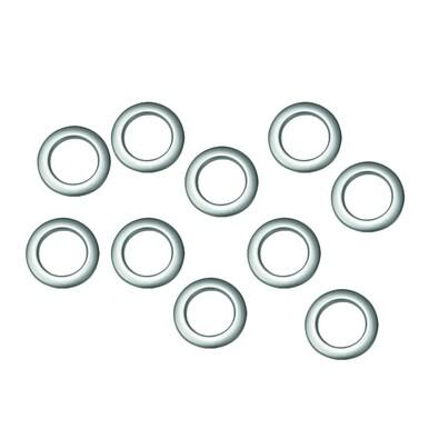 Kroužky na závěsy matná stříbrná, sada 10 ks, 3,5 / 5,5 cm