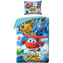 Detské bavlnené obliečky Super Wings 5510, 140 x 200 cm, 70 x 90 cm