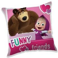 Față de pernă Jerry Fabrics Masha și Ursul  Friends, 40 x 40 cm