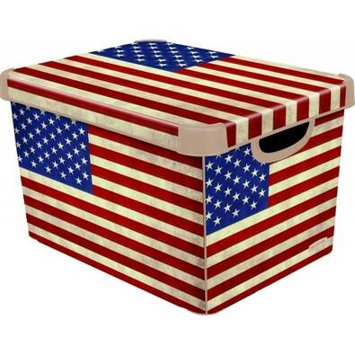 Curver AMERICAN FLAG úložný box dekorativní  velký