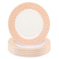 Altom Punto desszertes tányér készlet, 6 db-os, lazacszínű