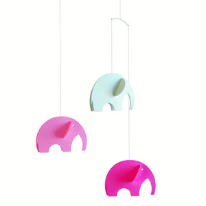 Flensted Mobiles Kinet Olephants 35 cm, růžová