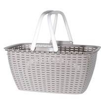 Koszyk na zakupy Ratan, brązowy