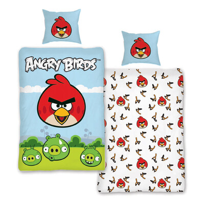 Dětské bavlněné povlečení Angry Birds 116, 140 x 200 cm, 70 x 90 cm