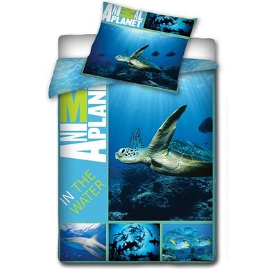 Bavlněné povlečení Animal Planet  Mořská želva , 140 x 200 cm, 70 x 80 cm