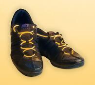Blikající tkaničky do bot